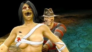 Mortal Kombat 9 - Freddy Krueger Tell 'Em Freddy Sent Ya Fatality on all Characters Gameplay Mods