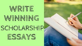 How to Write Scholarship Essays - How to Write a Scholarship Letter