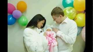 Выписка из роддома  Новорожденная Александра