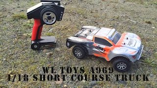 Wltoys A969 short course truck Unboxing and Driving!