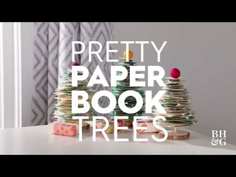 Paper Book Trees | Made By Me - Crafts| Better Homes & Gardens