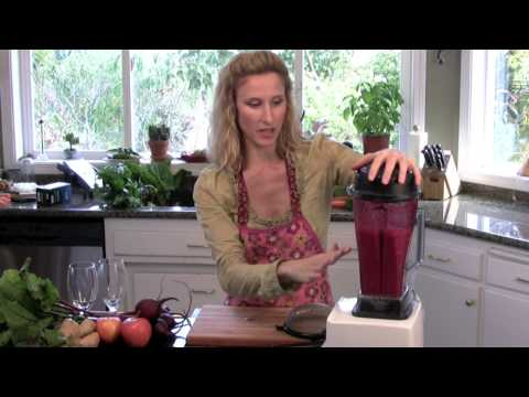 Video Raw Food Recipe GInger Beet Juice - www.TheDeliciousRevolution.com