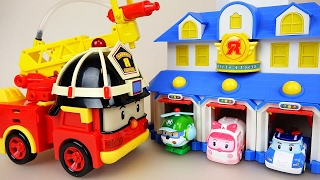 Robocar Poli Roy Fire Truck Car Toys And Tobot Fire Truck