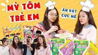 Vào Bếp Cùng Hải Yến : 10p xong mì trẻ em ăn vặt cực mê !