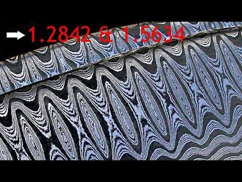 Messerstahl Damast Kohlenstoffstahl knife steel damascus 1.2842, 1.1563, 1.5634, 1.1248 forging