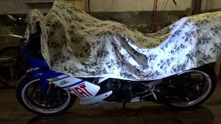 Замена поддона и масла Yamaha R1 2007