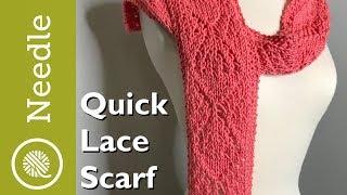 Knit | Quick Lace Scarf (Lg Diamond Pattern)
