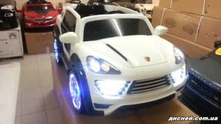 Детский электромобиль M 2735 EBLRS-1 Porsche Cayenne, автопокраска, белый - дисней.com.ua
