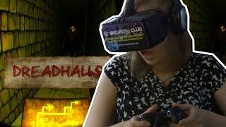 Обзор игры Dreadhalls с Oculus Rift DK2 в Virtuality Club