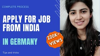 How to apply for Job in Germany from India or other countries | Germany job search process