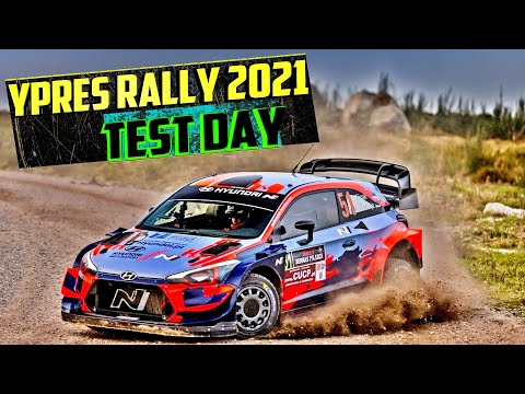 YPRES RALLY 2021 | TEST DAY | AWESOME MOMENTS