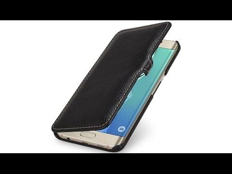 Hülle für Samsung Galaxy S6 edge+ Book Type mit Clip aus Leder von StilGut