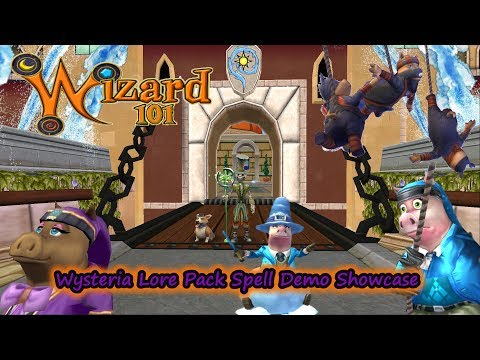 Wizard101: Wysteria Lore Pack New Spells! (Pigsie, Angry