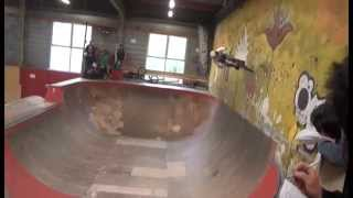 preview picture of video 'Light The park, Grenoble, skatepark de la Bifurk.'