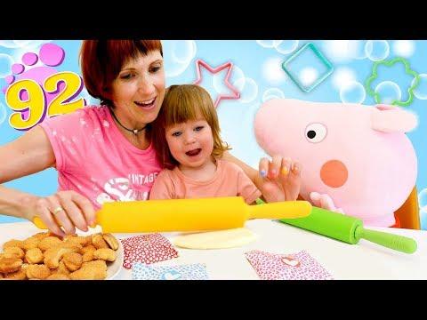 Бьянка и свинка Пеппа пекут Печенье - Маша Капуки и рецепты для детей