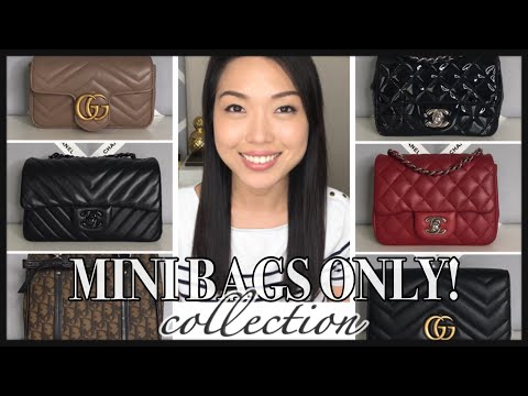 MINI BAGS ONLY! HANDBAG COLLECTION | CHANEL, DIOR, GUCCI, LOUIS VUITTON | GINALVOE