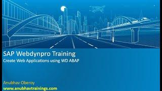 Webdynpro ABAP Training | Webdynpro ABAP Tutorial