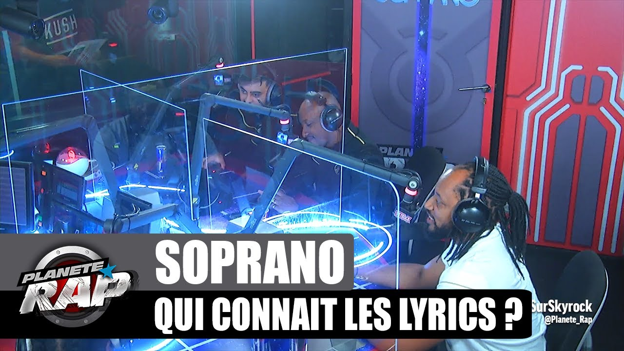 Soprano - Qui connaît les lyrics ? avec Dj Carlton, Djaresma, Zak & Diego ! #PlanèteRap