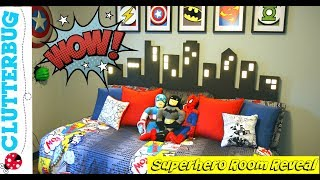 Little Boys Superhero Room Tour