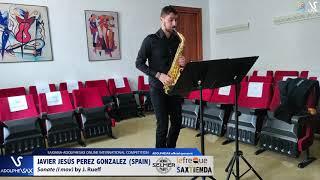 Javier Jesús PEREZ GONZALEZ plays Sonata by J. Rueff #adolphesax