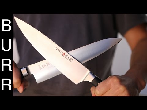 Japanese vs Western – Masamoto Gyuto vs Wusthof Chef Knife