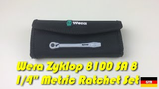 "German Tool Reviews:  Wera 8100 SA 8 Zyklop 1/4"" Drive Metric Ratchet Set"