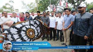 Sandi Resmikan Sekber Pemenangan Prabowo-Sandi Provinsi Aceh