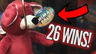 CLEANING IT OUT! CLAW MACHINE WINS - OVER 25 WINS! | Arcade Games