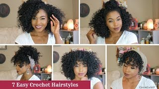 7 Easy Crochet Hairstyles || Freetress Ringlet Wand Curl || CocoaCurls87
