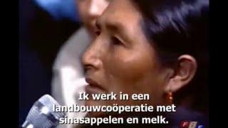 Gesprek met een indiaanse uit Peru