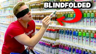 🎨 BUYING ART SUPPLIES BLINDFOLDED!?🖌️ I made art with everything I bought...