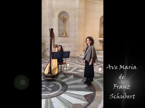 Ave Maria by Schubert in duo singer and harp