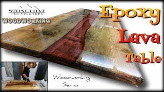 Epoxy Lava Table