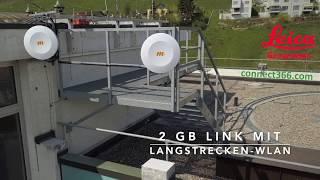 2GB - Link mit Langstrecken-WLAN verbindet zwei Geschäftsgebäude