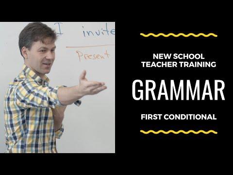 Grammar Lesson. First Conditional. A2. New School Teacher Training Videos