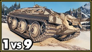 E 25 - 14 Kills - 1 vs 9 - World of Tanks Gameplay