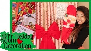 DIY Holiday Room Decoration: Christmas Door, Nice List + More!