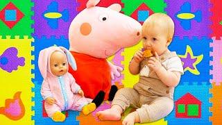 Mamas Schule auf Deutsch. 2 Folgen am Stück. Die Spielzeugecke für kleine Kinder.