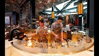 Starbucks opens fancy first cafe in Italy