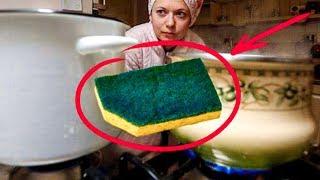 Зачем Обрезать Уголок у Посудной Губки? Эта хитрость ВЫРУЧАЕТ Меня !!!