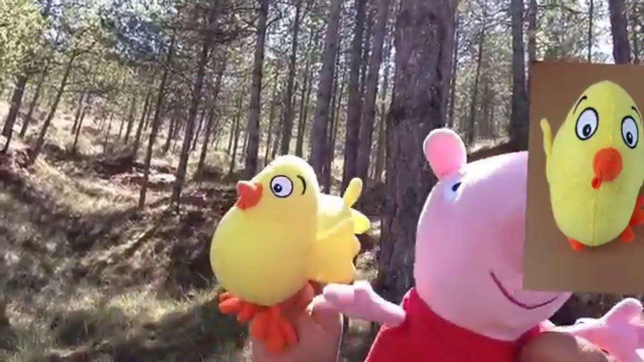 El Pollo pepe y Peppa Pig cantan en el bosque