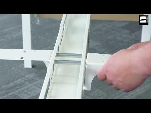 SWAN Montage van Swan werkplek set bladdragers