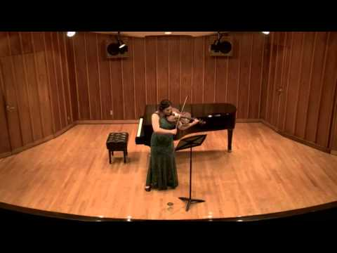 This is the livestream video from my first master's degree recital in viola performance.