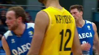 Шикарные проходы Крика – в видеообзоре матча Киев-Баскет – Одесса