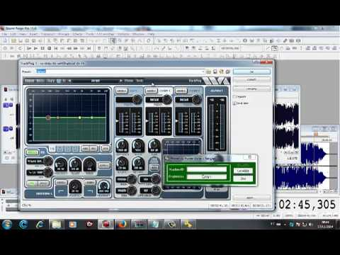 Destravando plugin wave - Sound Forge (Locutor Kiko)