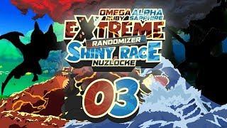 INCREDIBLE DRAGONS and LEGENDARY ATTACKS! Pokemon ORAS Extreme Randomizer Shiny Race Nuzlocke Ep 03