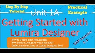 Getting Started with Lumira Designer : Practically :Unit 1