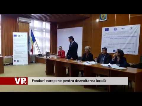 Fonduri europene pentru dezvoltarea locală