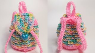 How to Crochet a Mini-Backpack (For Beginners)