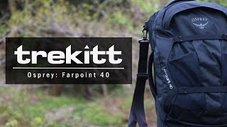 Osprey Farpoint 40 / Jasper Red - відео 1